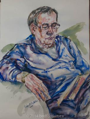 watercolour, painting, portrait