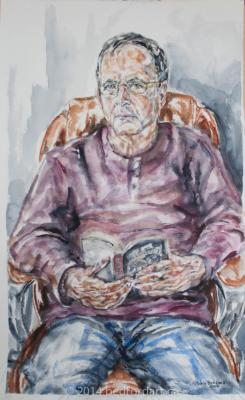 painting, watercolour, life pose, portrait