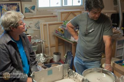 mold making, art,sculpture,apprentice
