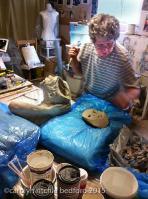 sculpture, boy, clay,art