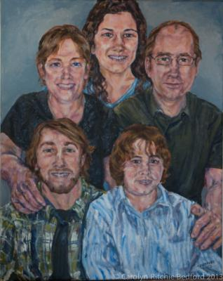 acrylic, portrait, family, painting, from photo