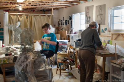 studio, work, art, clay, artist