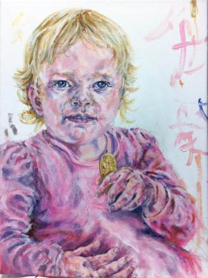 portrit,commission,baby,painting
