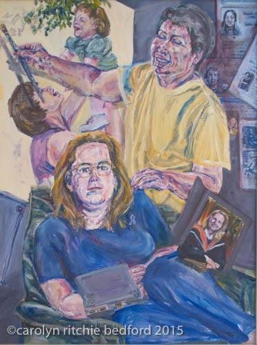 figures, painting, family