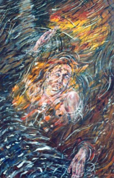 """""""Life's Reflection (Surfacing)"""", painting in acrylic"""