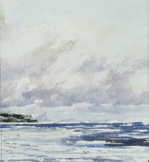 """Ice is in the Bay"", painting in watercolour"
