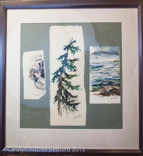 painting, sea, shore,triptych,art